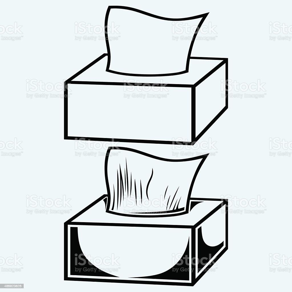 White tissue box vector art illustration