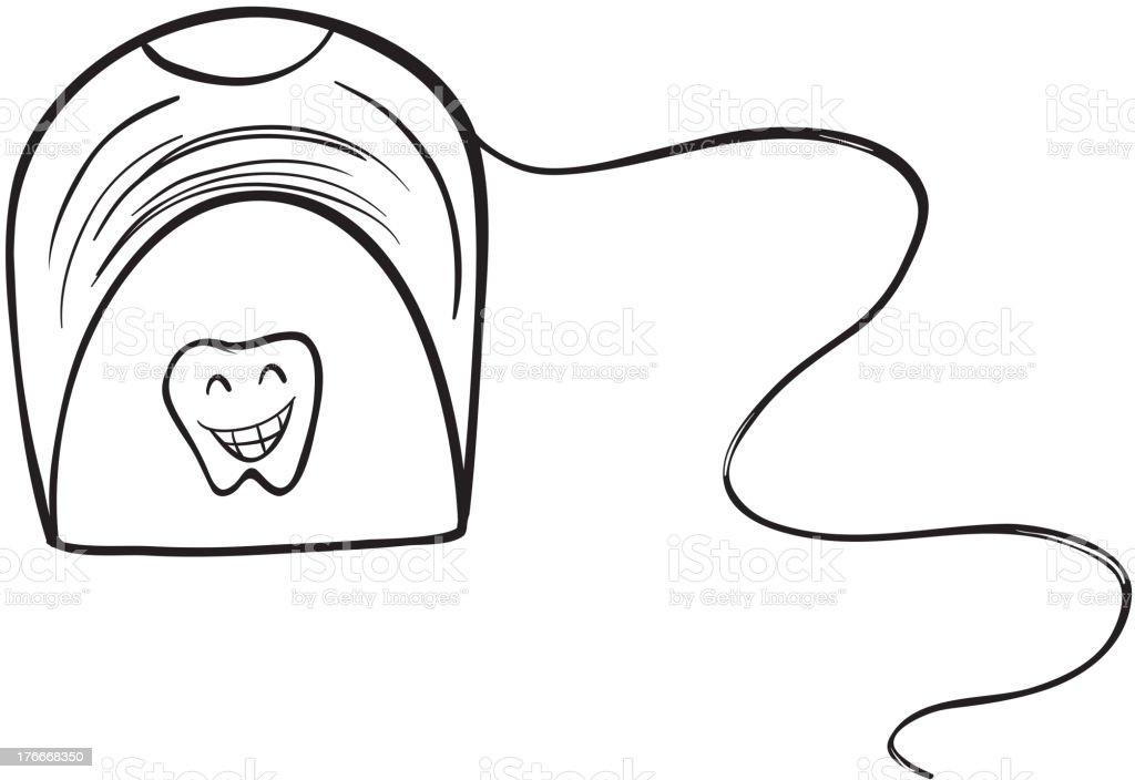 white tissue holder royalty-free stock vector art
