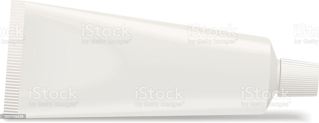 White toothpaste tube. Vector vector art illustration