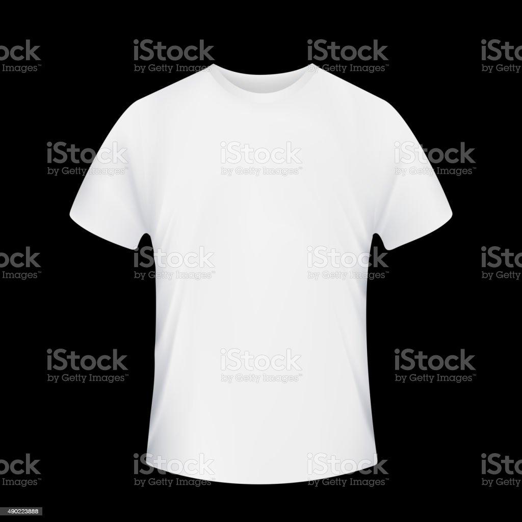 White T-shirt. vector art illustration