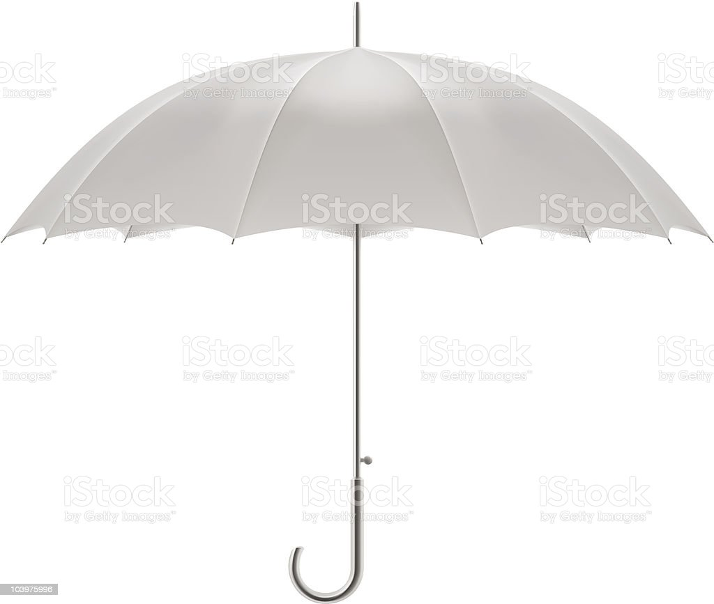 White umbrella vector art illustration