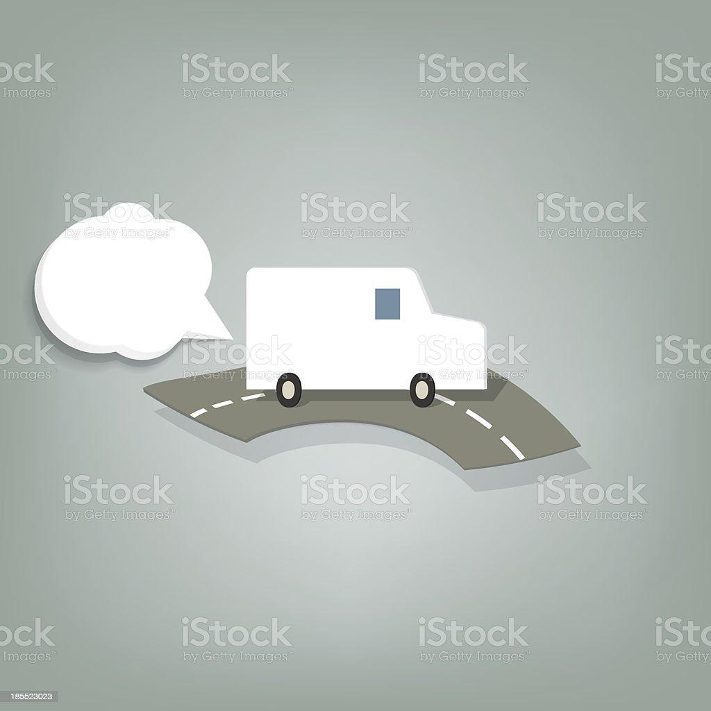 Minibus blanc stock vecteur libres de droits libre de droits