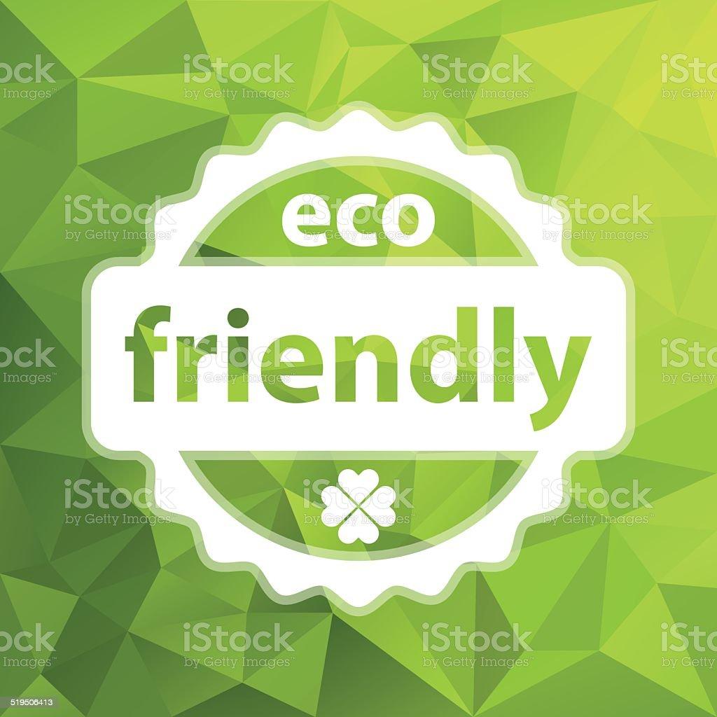 white vector eco friendly stamp vector art illustration
