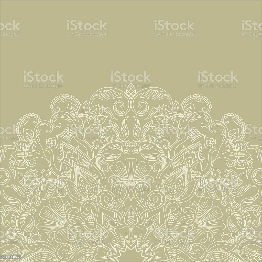 White vector ornament on a tan background royalty-free stock vector art