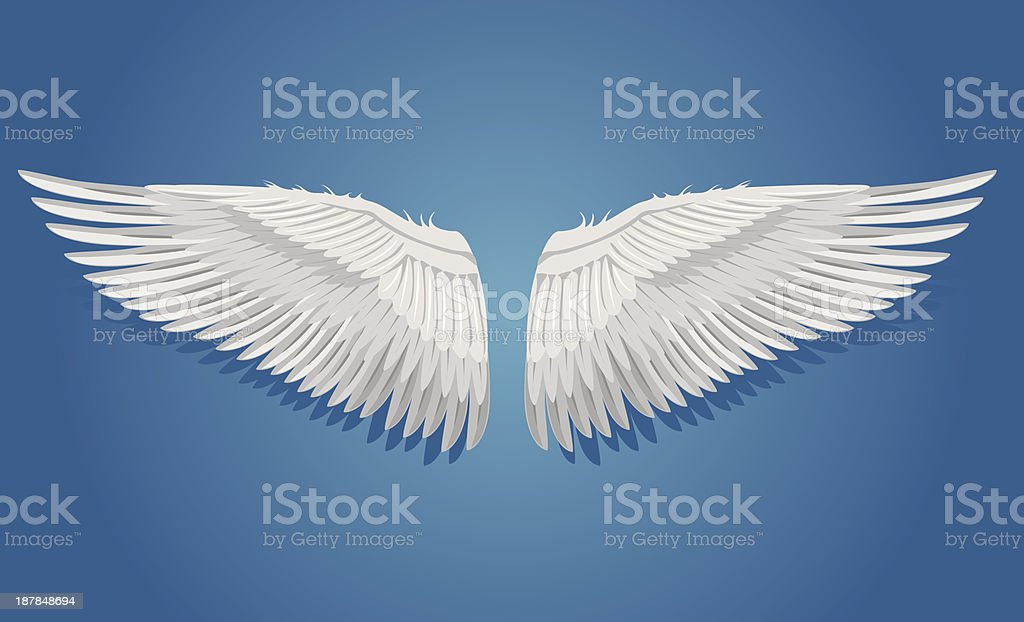 White vector wings royalty-free stock vector art