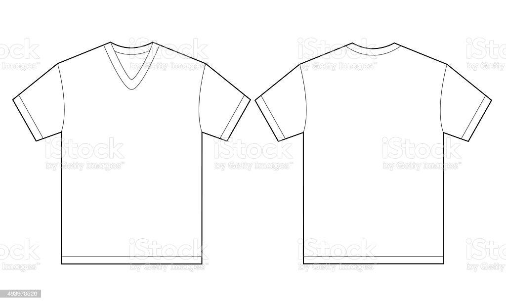 white vneck shirt design template for men stock vector art 493970526 istock. Black Bedroom Furniture Sets. Home Design Ideas