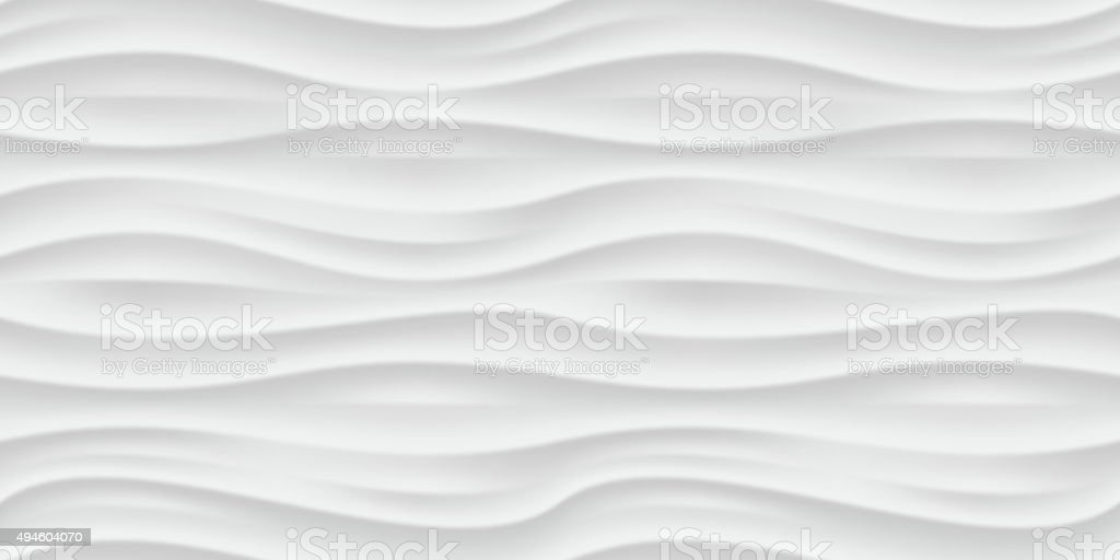 White wavy panel seamless texture background. vector art illustration