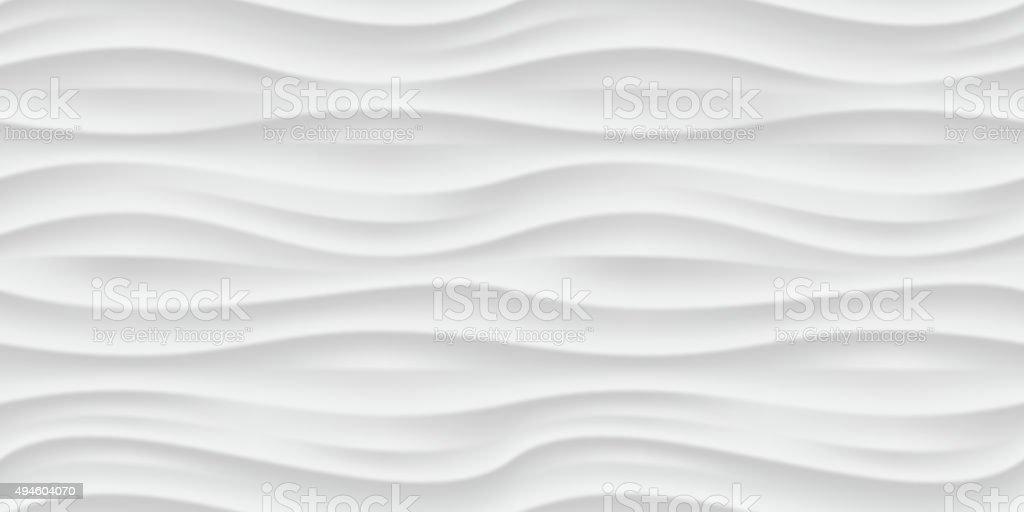 White wavy panel seamless texture background. vector art illustration