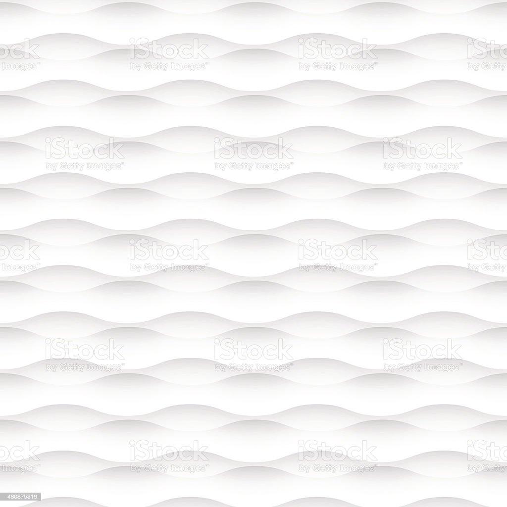 White wavy seamless background vector art illustration