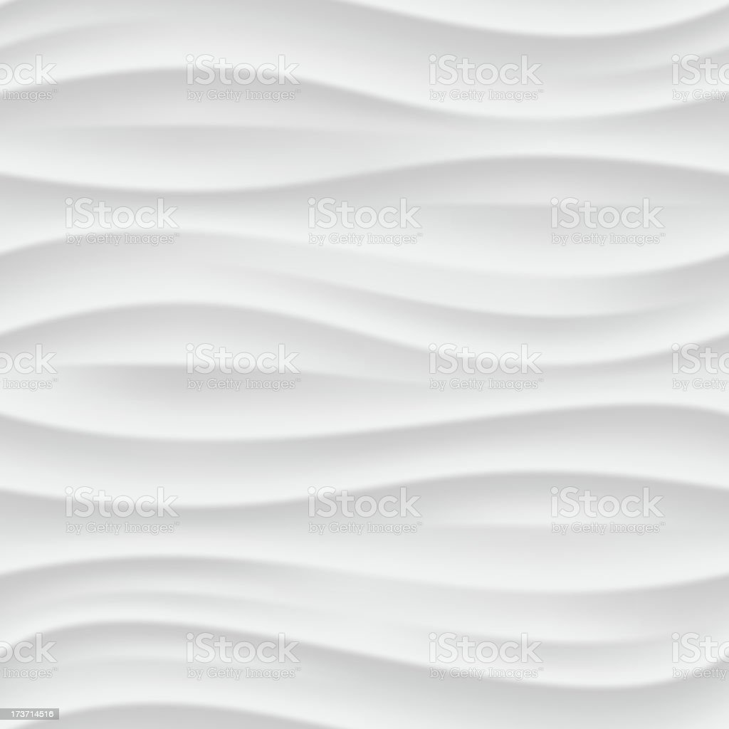 White wavy seamless texture. vector art illustration