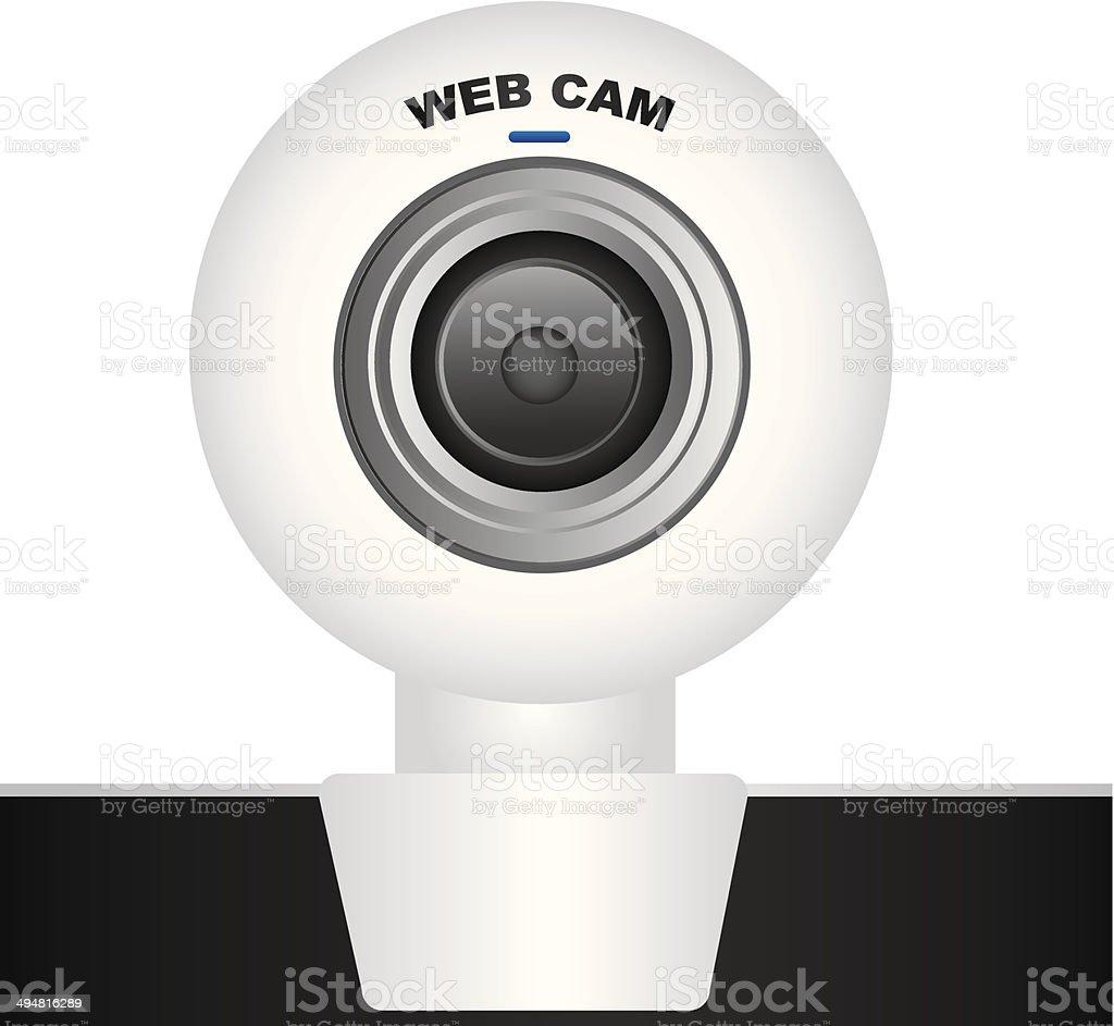 White web cam vector art illustration