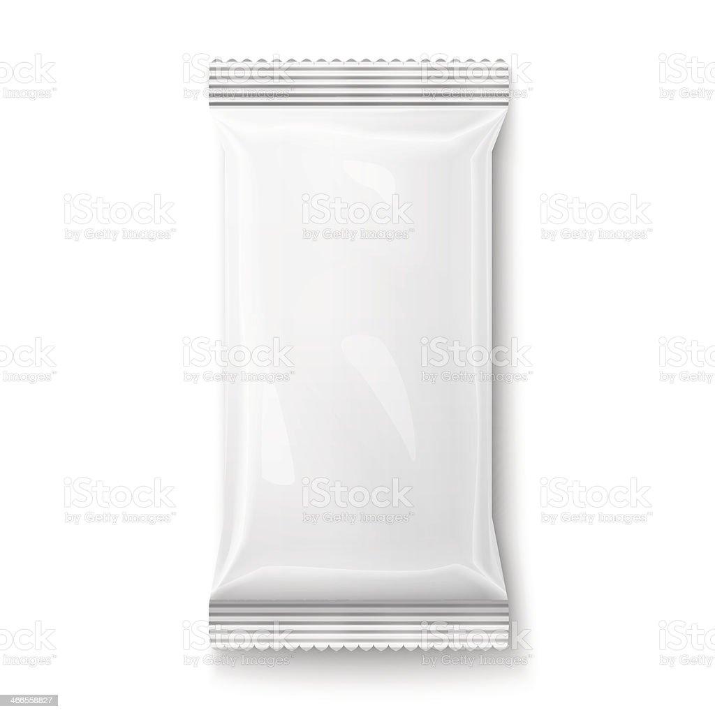 White wet wipes package. vector art illustration