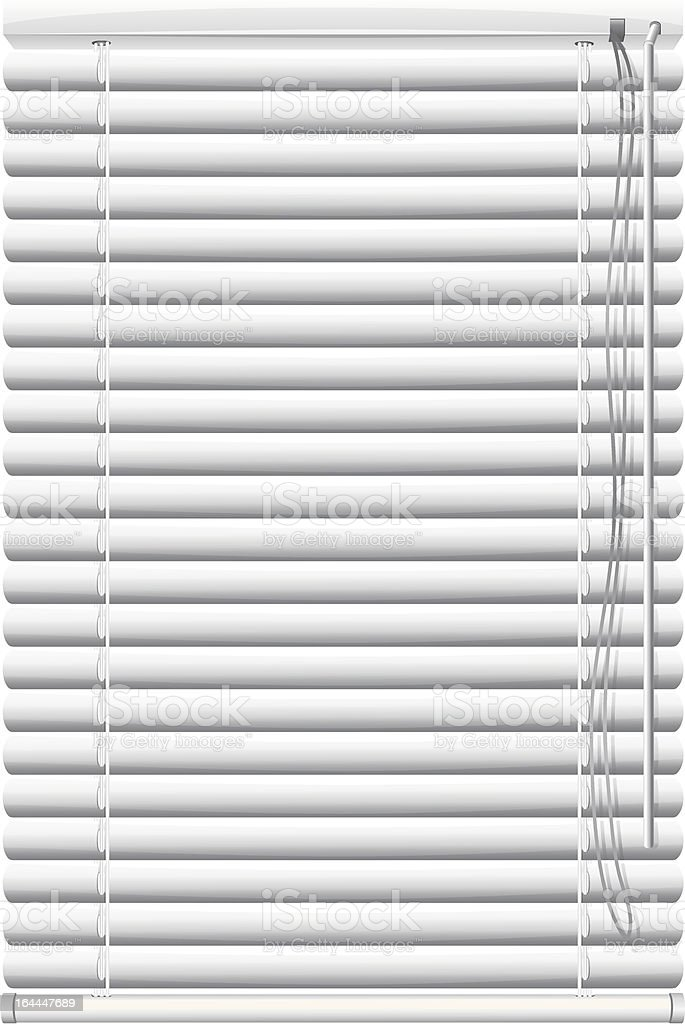 White window blinds as a background vector art illustration