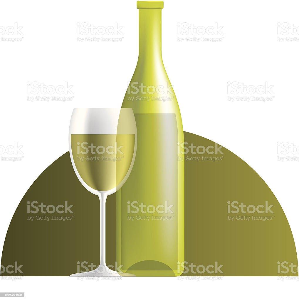 white wine royalty-free stock vector art