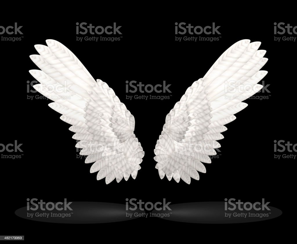 White Wings royalty-free stock vector art