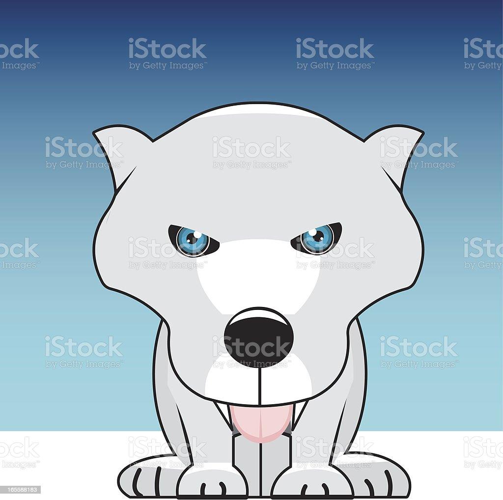 white wolf vector art illustration