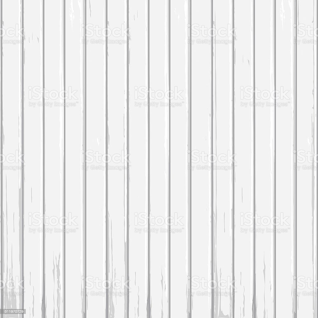 White wood background vector art illustration