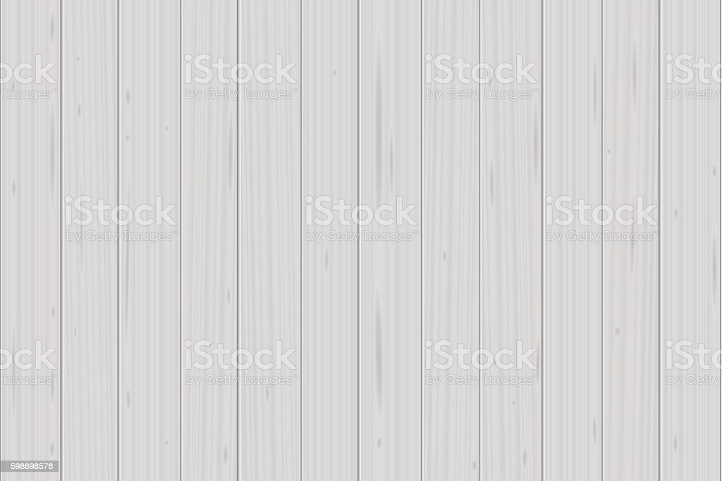 White Wood Planks vector art illustration