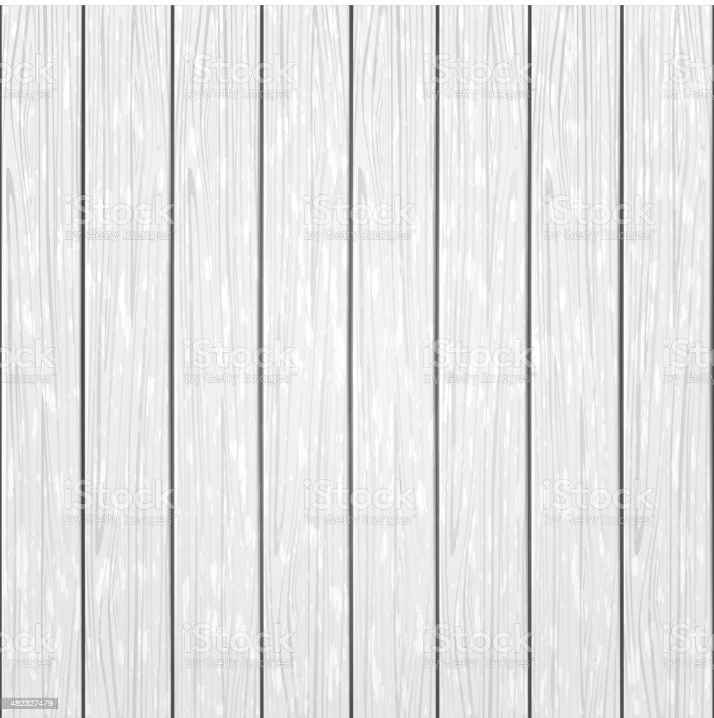 White wooden background vector art illustration