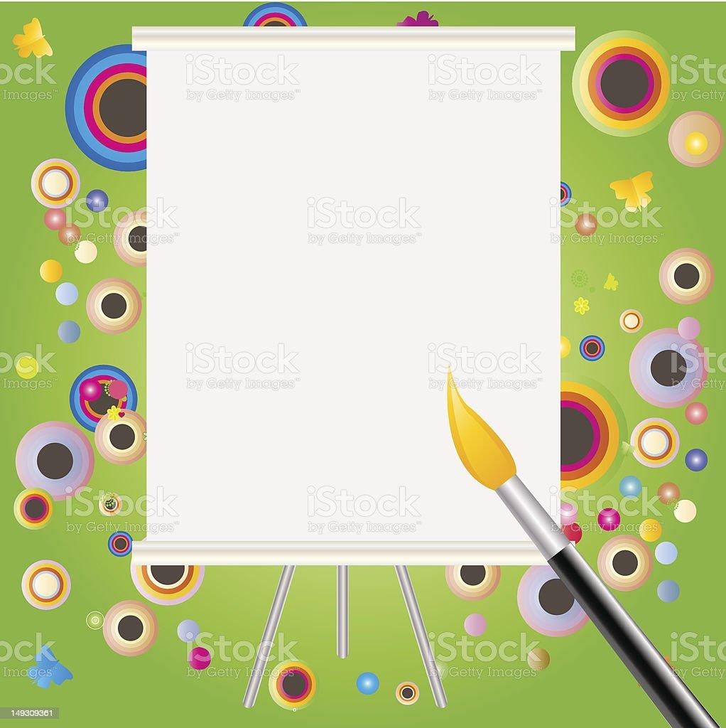 Whiteboard royalty-free stock vector art