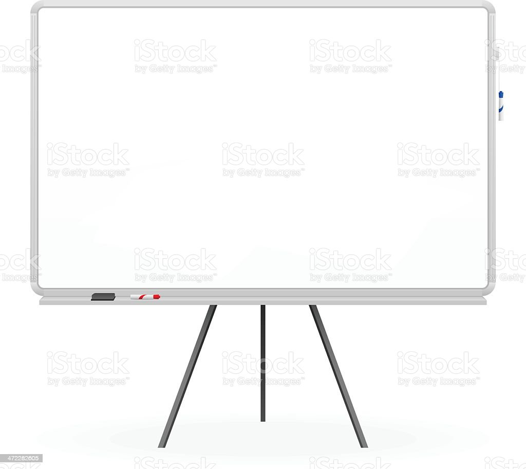 Whiteboard vector art illustration