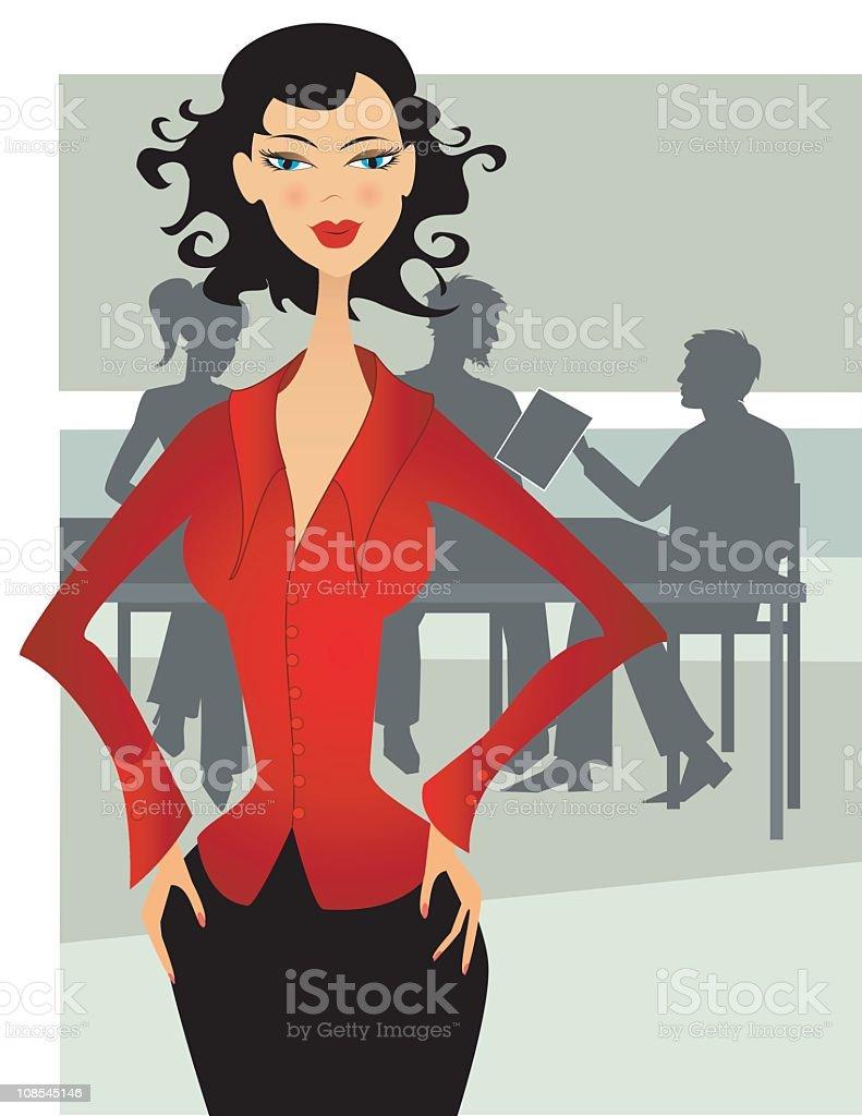 Who?s the Boss? vector art illustration