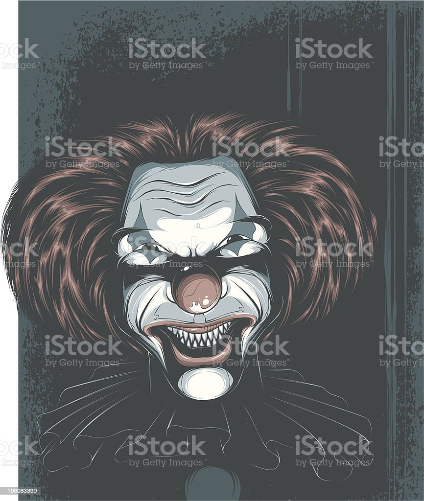 Wicked Clown vector art illustration