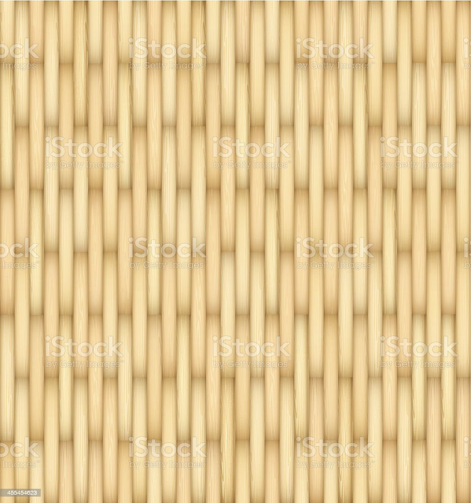 Wicker Background vector art illustration