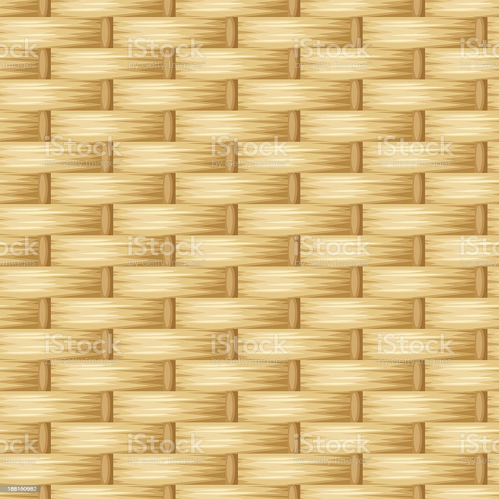 Wicker texture. Vector seamless background. royalty-free stock vector art