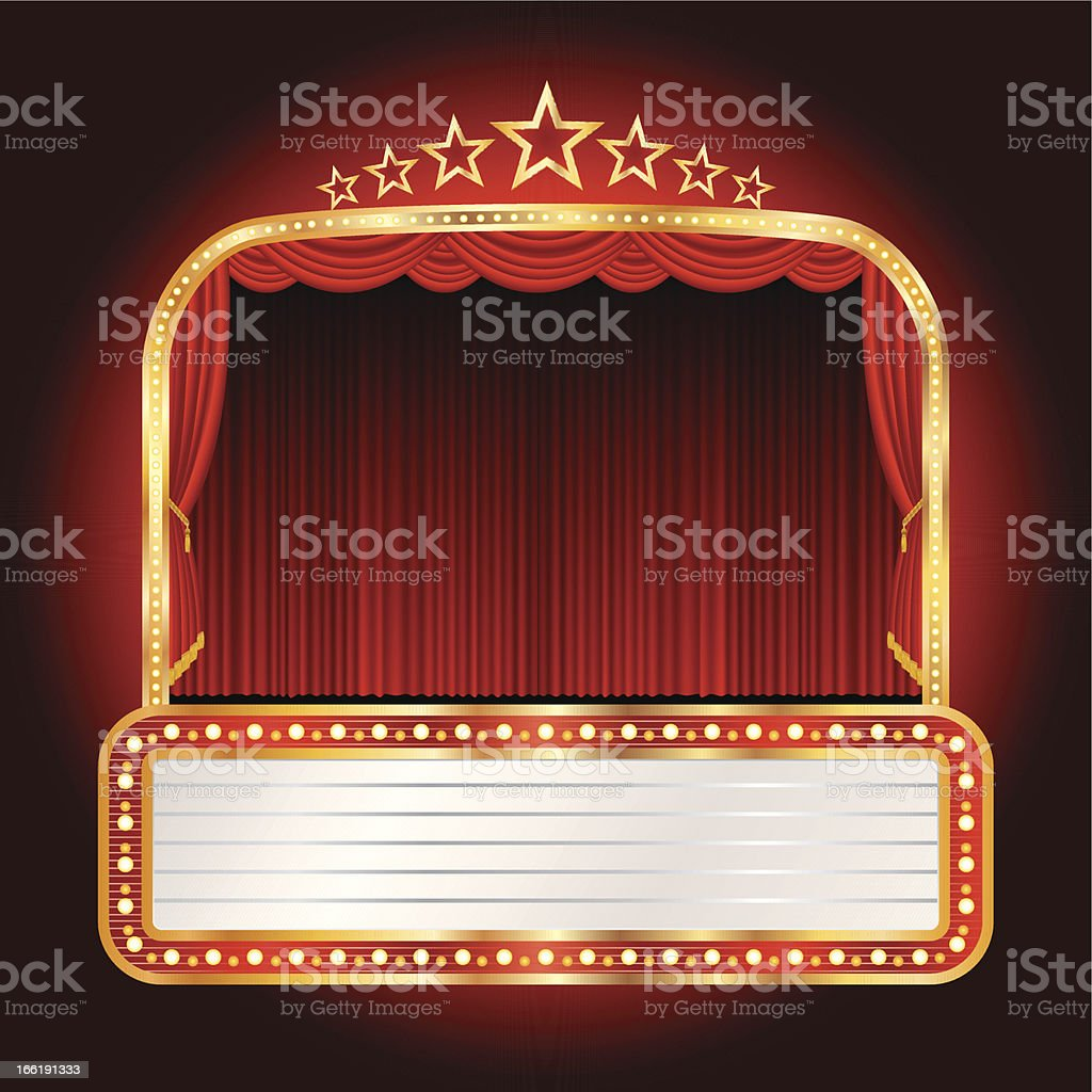 wide stars stage vector art illustration