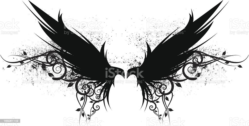 wide wings royalty-free stock vector art