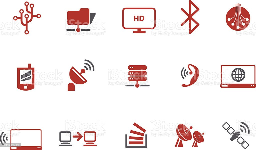 Wi-fi Icon Set vector art illustration