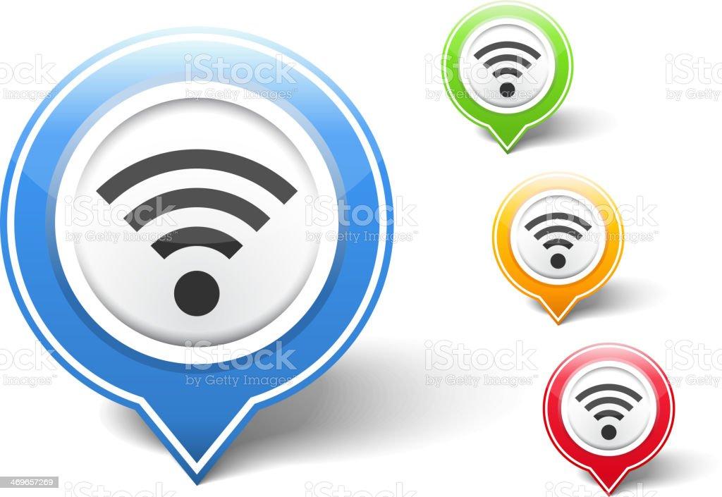 Wi-Fi Icon vector art illustration