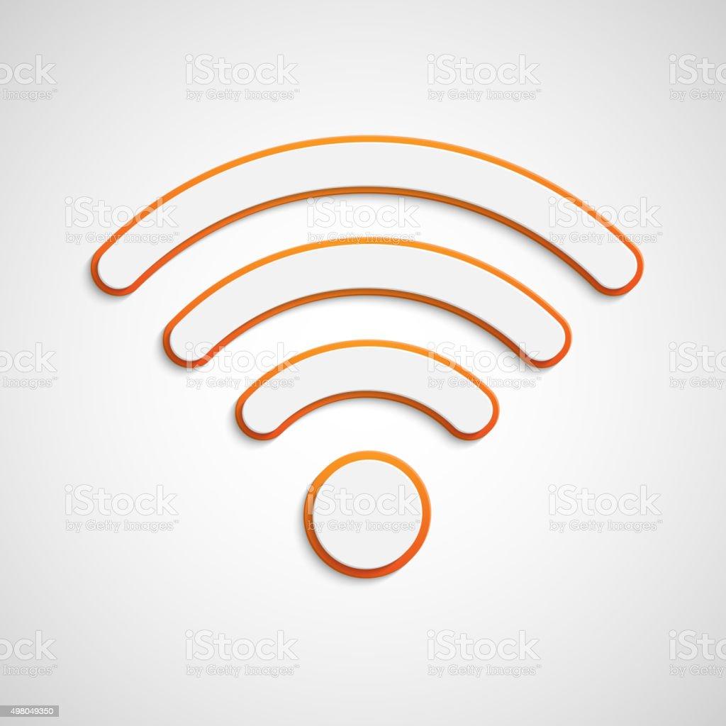 3D wifi icon vector art illustration