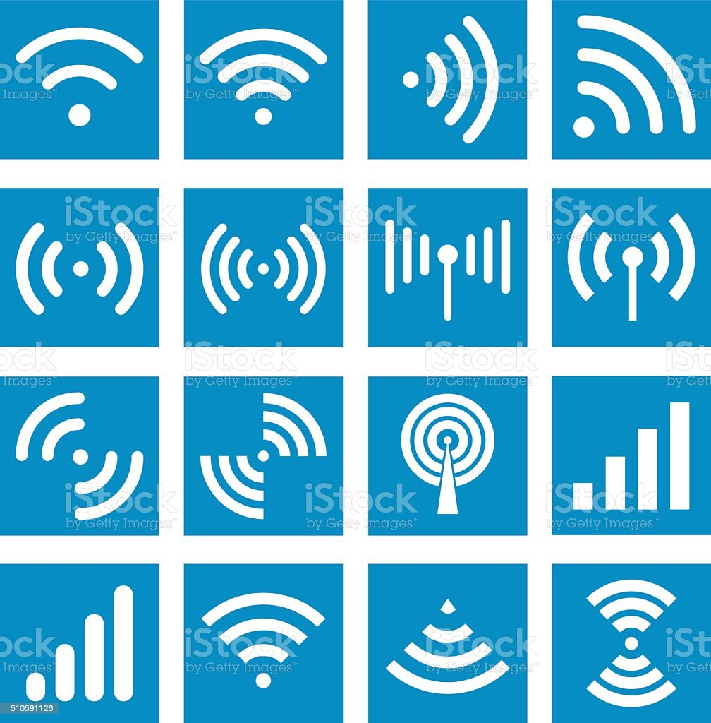 Wifi icons - Illustration vector art illustration