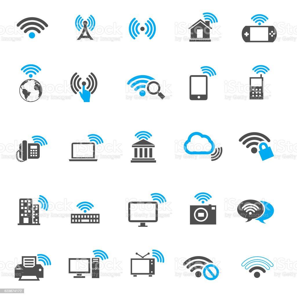 Wi-fi icons vector art illustration