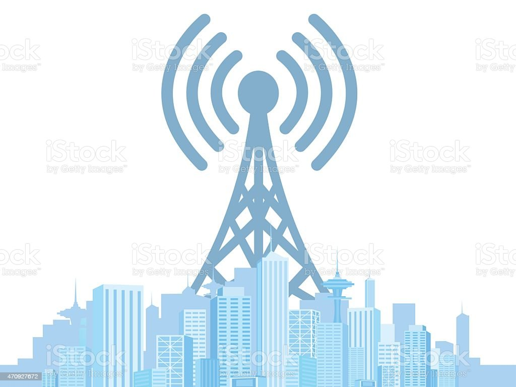 WiFi in the city stock photo