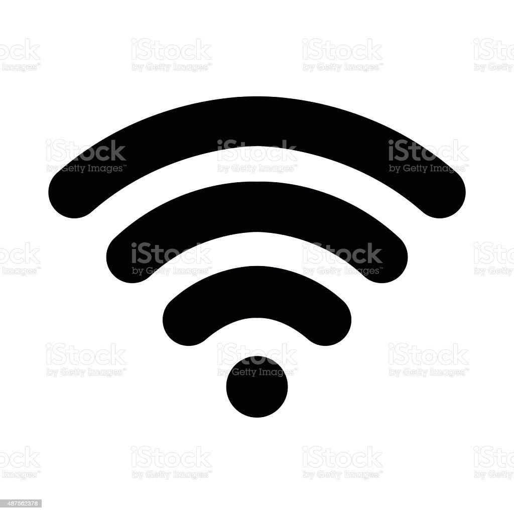 Wifi logo vector art illustration