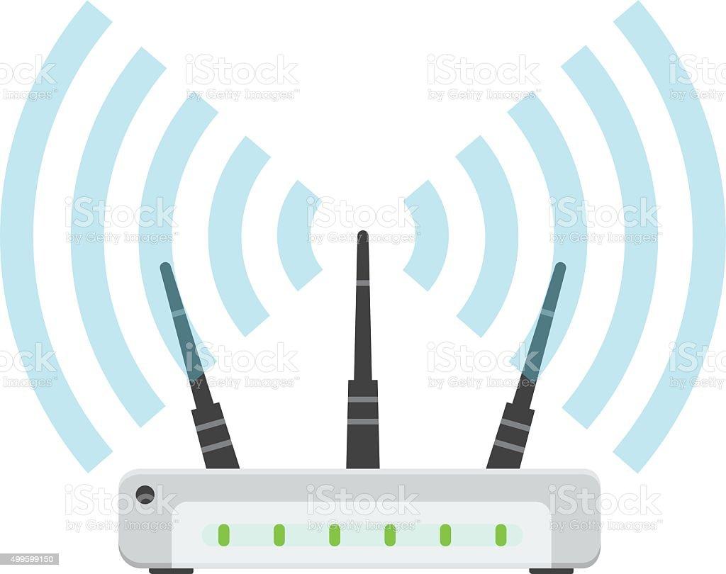 WiFi Router vector image vector art illustration