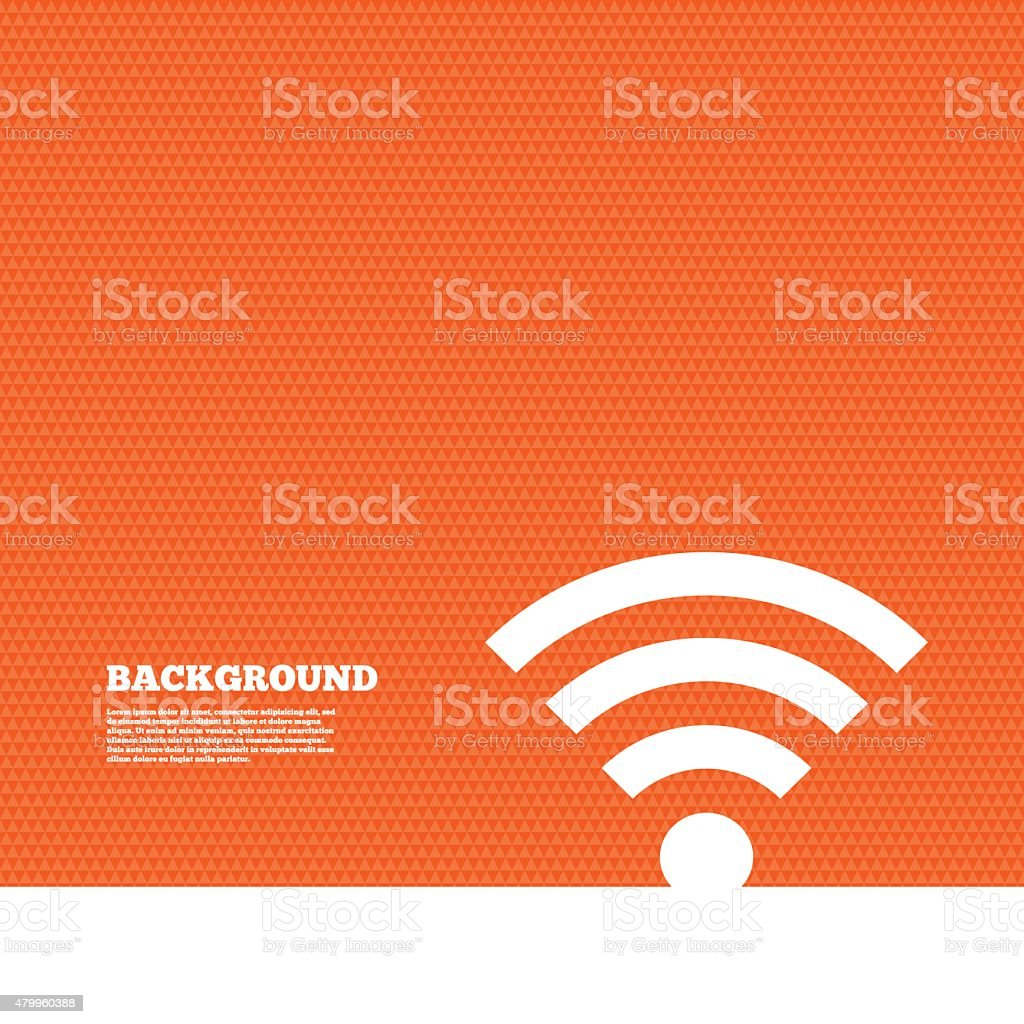 Wifi sign. Wi-fi symbol. Wireless Network vector art illustration