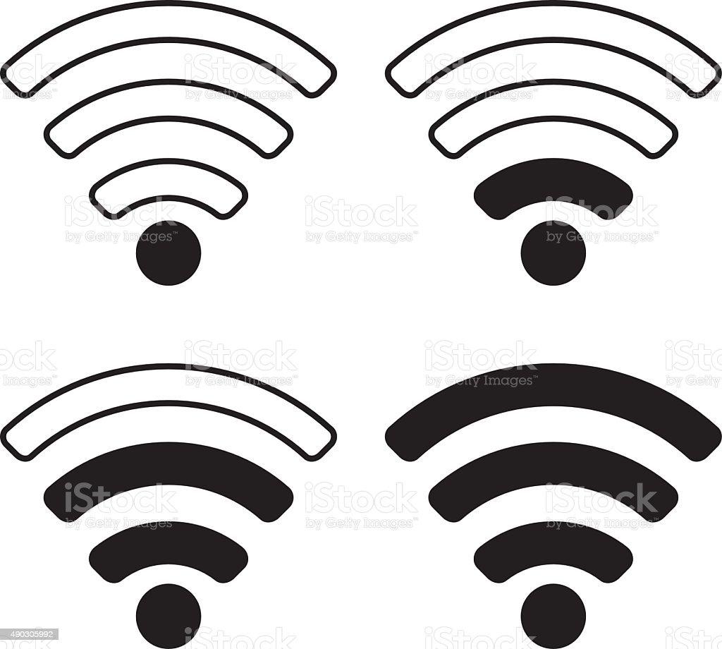 WiFi Signal Symbol Icon vector art illustration