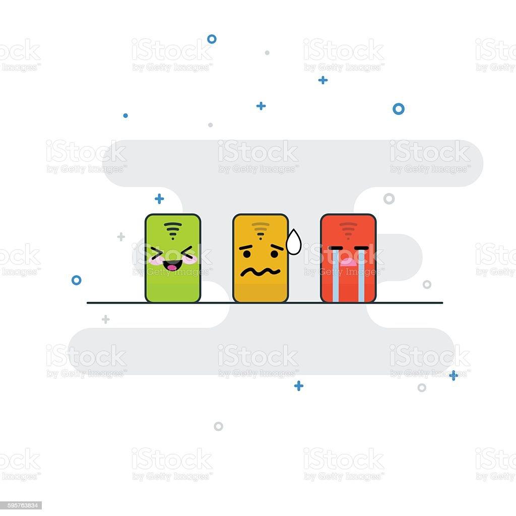 Wifi Signal vector art illustration