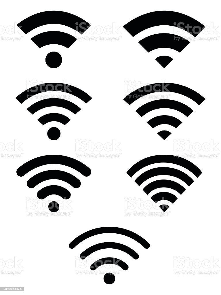 Wifi symbol icon set vector art illustration