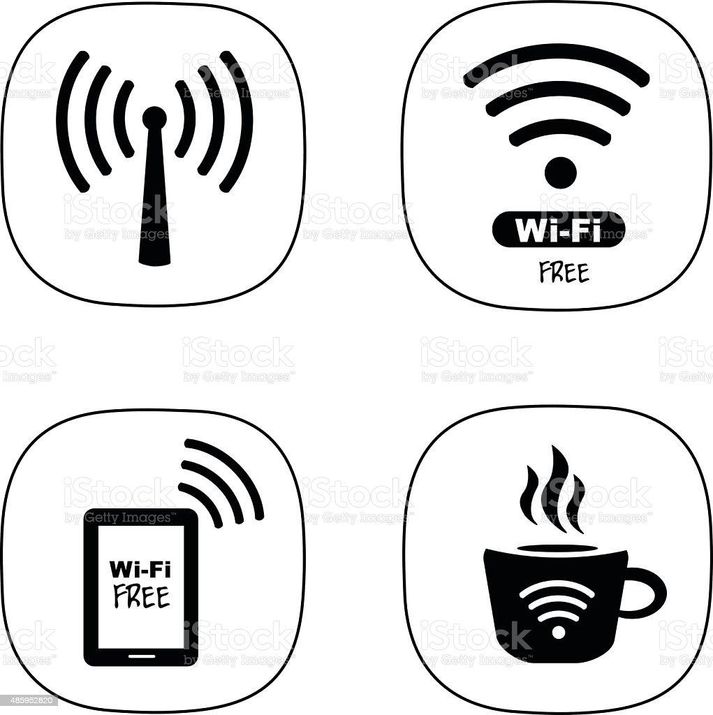 WiFi Symbol vector art illustration