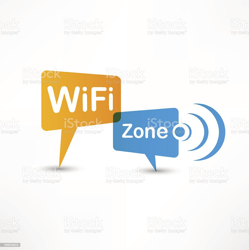 WiFi Zone speech bubbles royalty-free stock vector art