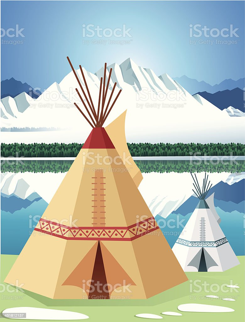 Wigwam royalty-free stock vector art
