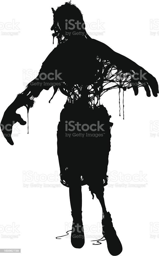 Wilbur the Zombie! royalty-free stock vector art