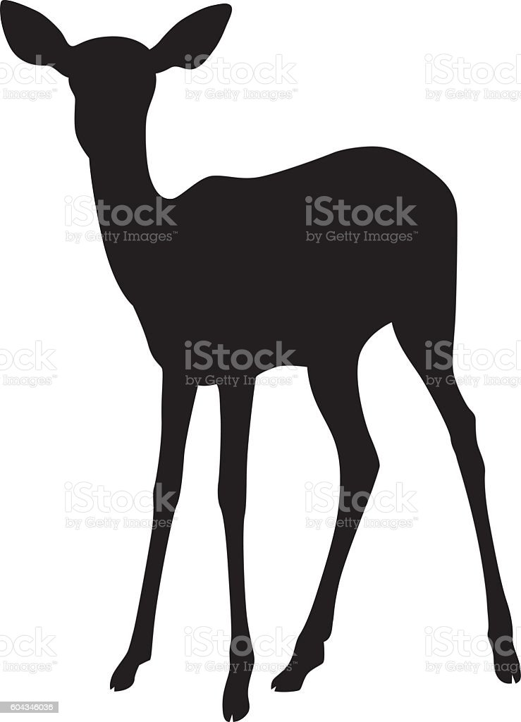 Wild African Impala Silhouette vector art illustration