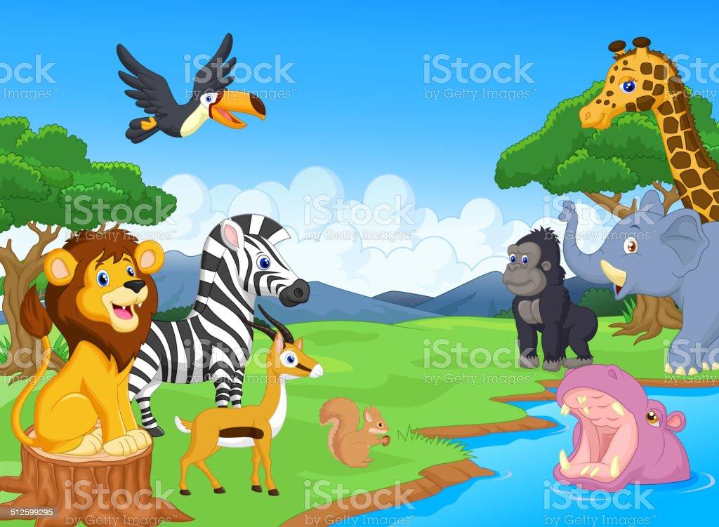 Wild Animal cartoon vector art illustration