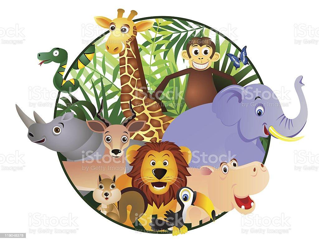 Wild animal family royalty-free stock vector art